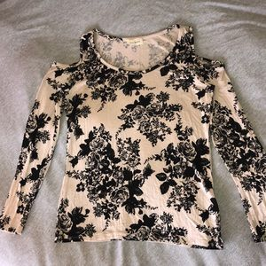 Long Sleeve (7/8) Floral Shirt